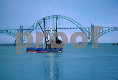 Salmon fishing boat at Newport, Oregon.