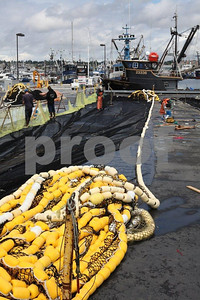 Salmon fishing boats at Fishermen's Terminal, Seattle
