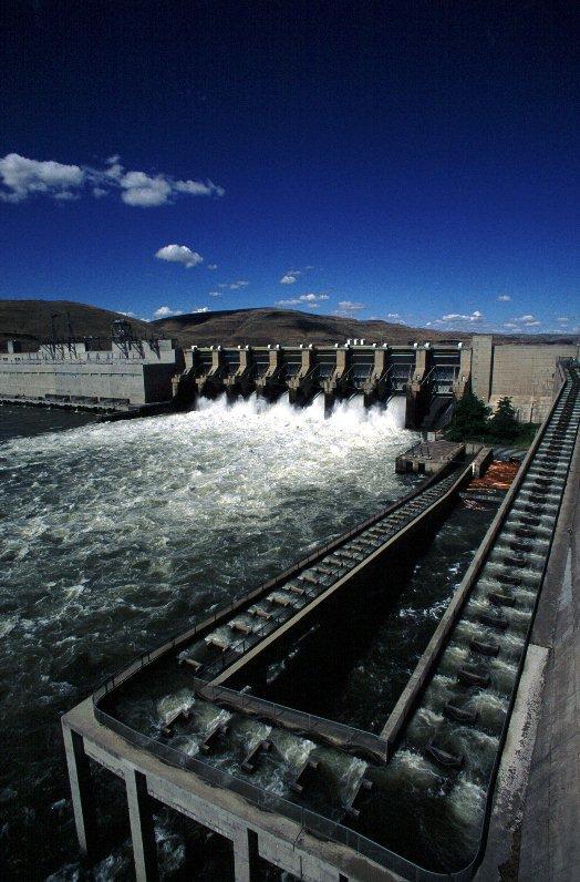 Lower Monumental Dam on the Snake River.