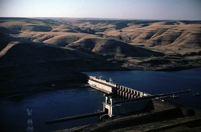Lower Monumental Dam on the Snake River.