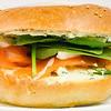 Pay day treat. Smoked salmon bagel from Urban Bean Espresso Bar. #lunch #yummylummy #foodporn #yummy #delicious #instafood #iphone