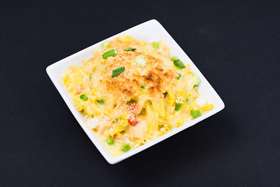 Salmon and macaroni cheese