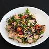 Salmon and kale coleslaw