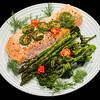Baked salmon with asparagus and baby broccoli #dinner #yummylummy #foodporn #yummy #delicious #instafood #nikon