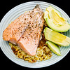 Baked salmon and avocado on crispy cheesy noodles #dinner #yummylummy #foodporn #yummy #delicious #instafood #nikon