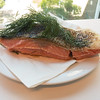 Wednesday lunch. Leftover sous vide salmon garnished with dill.