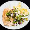 Salmon, fennel salad and avocado