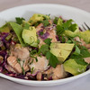 Salmon and cabbage salad