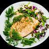 Baked wasabi sesame seed salmon with pickled jalapeño fennel salad #dinner #yummylummy #foodporn #yummy #delicious #instafood #nikon