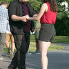 Salsa on the Riverfront is a monthly event series bringing free beginner salsa dance lessons and social dance to downtown Fitchburg at Riverfront Park. July 26, 2019 was the second one of the summer. Thomas Moser of Fitchburg and Kayla Bertucci also of Fitchburg practice some steps during the class. SENTINEL & ENTERPRISE/JOHN LOVE