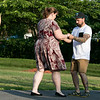 Salsa on the Riverfront is a monthly event series bringing free beginner salsa dance lessons and social dance to downtown Fitchburg at Riverfront Park. July 26, 2019 was the second one of the summer. Heidi Bogner of Fitchburg and Liam Gallagher of Ashburnham practice some steps during the class. SENTINEL & ENTERPRISE/JOHN LOVE
