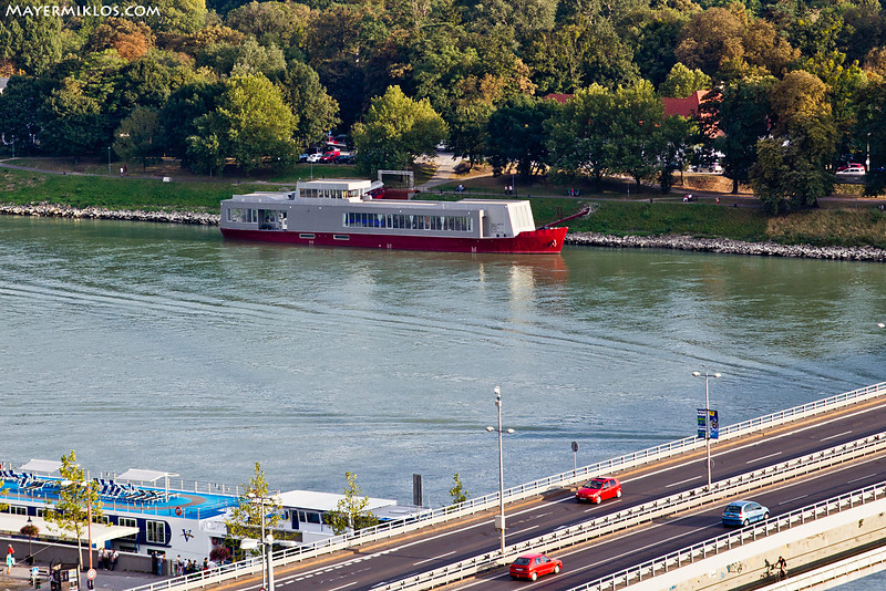The location of the Gala: River's Club seen from the Castle.