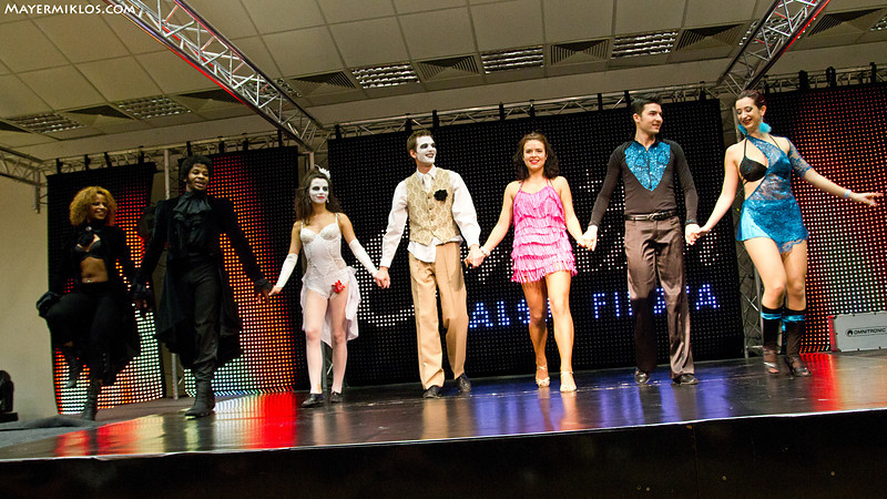 The performers of the night (from left to right): Cecile, Terry, Beata, Gabriel, Melitta, Bogdan and Carolina