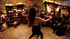 Adrian Tenorio and Gabi Megyesi dancing at the closing party of Sabor Latino Fiesta, Budapest.