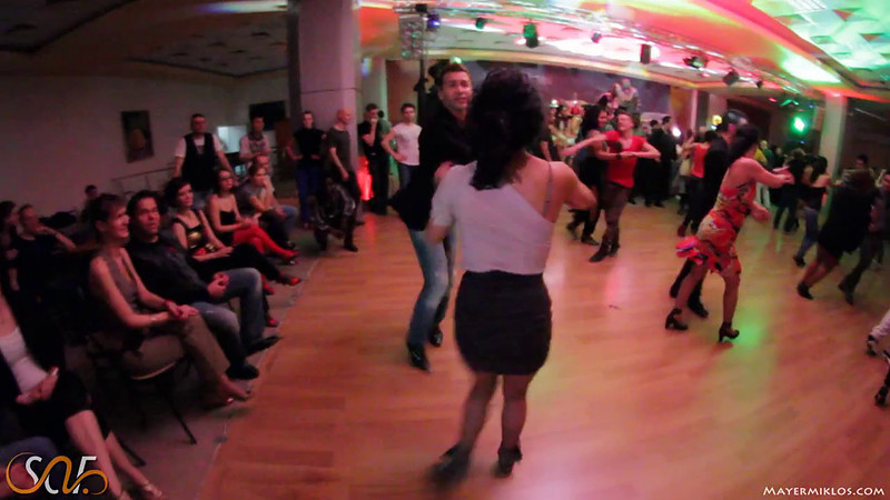 Mauro and Sabrina burning up the dancefloor at the 5th Salsa Addicted Festival, Timisoara.