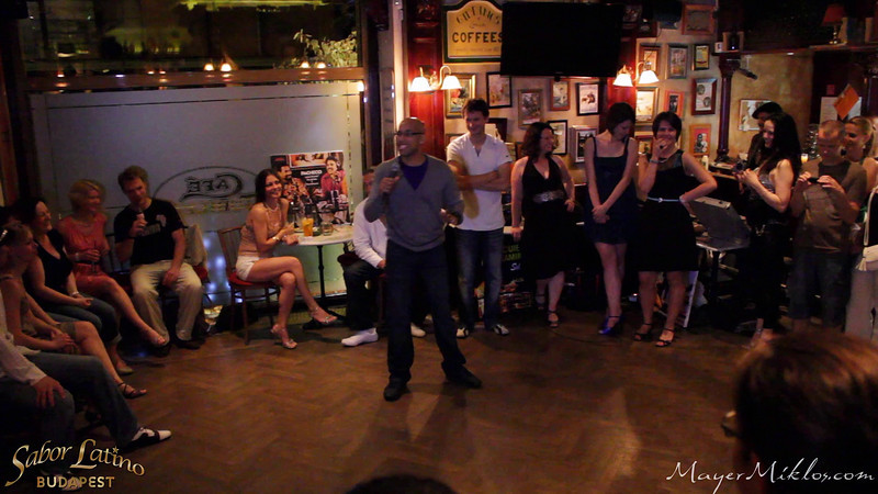 Adrian Tenorio and Kimberly Rivera's performance in Café Jubilee, at the closing party of Sabor Latino Festival, Budapest.