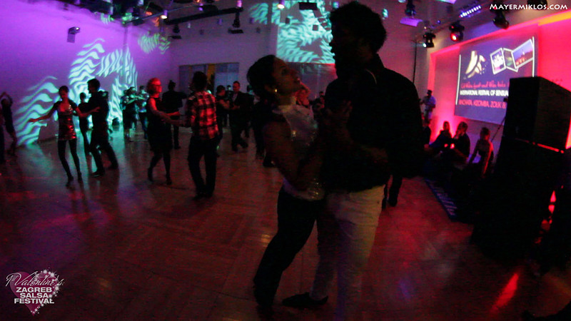 Terry and Magna Gopal social dancing at Zagreb Salsa Festival