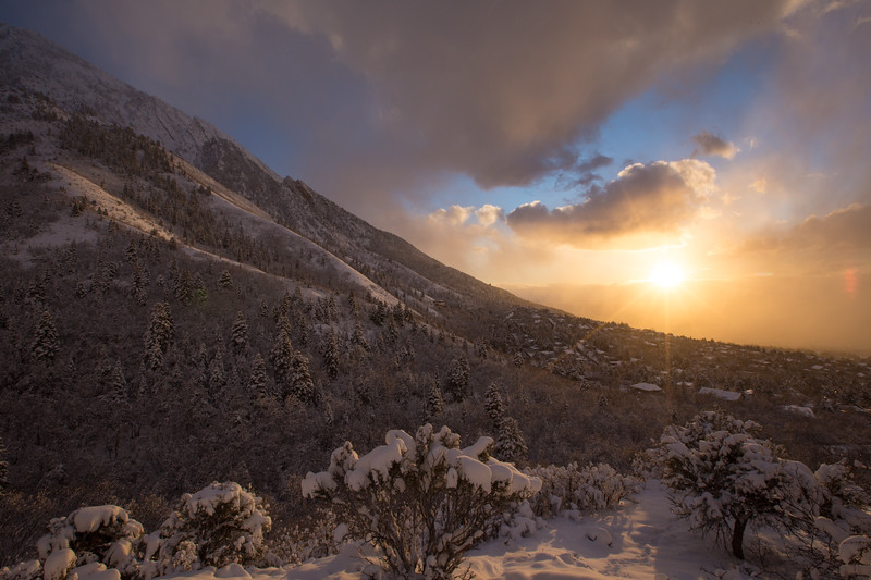 Winter Sunset from Neff's Canyon