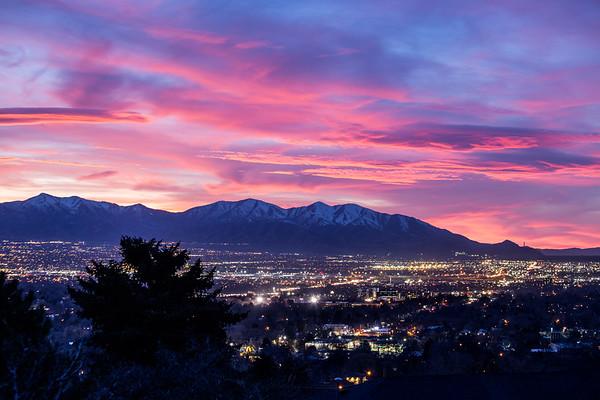 Pink Sky Over Salt Lake 4