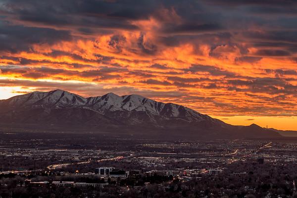 Sunset Over Salt Lake