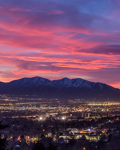 Pink Sky Over Salt Lake 2