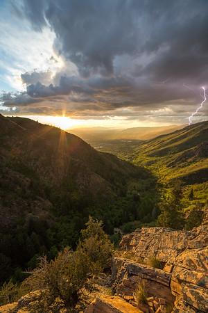 Electric Sunset Over Salt Lake