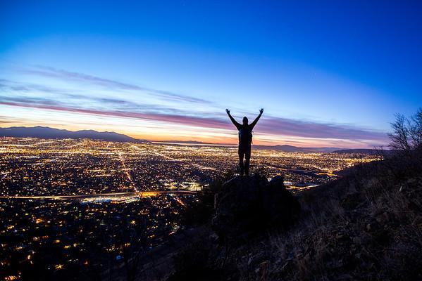 Silhouette Over Salt Lake City