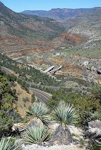 Overlooking the Salt River Canyon. The put-in is at the farthest visible bend in the river.