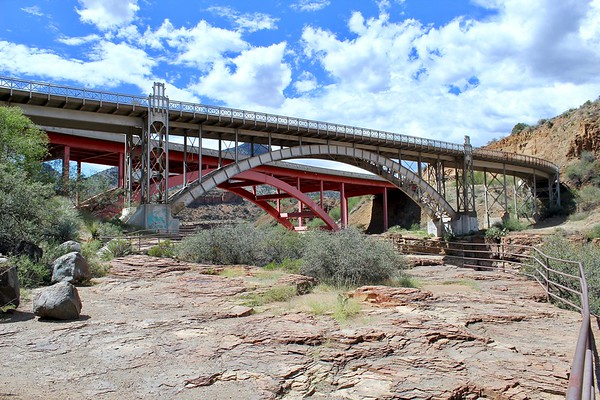 Historic and modern Highway 60 bridges in Salt River Canyon (2018)