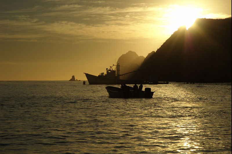 Sun Rise and Boat Cabo San Lucas MexicoBlue Water Fly Fishing