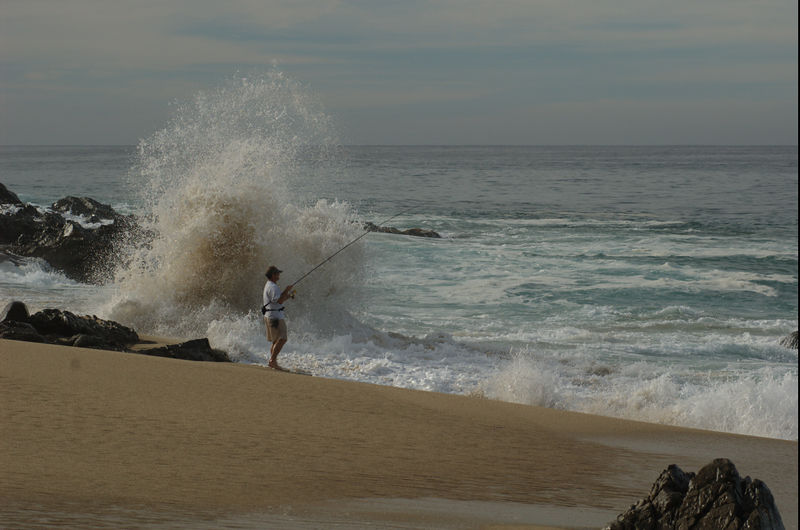 Surfcasting, Grant Hartman, Cabo San Lucas Mexic Blue Water Fly Fishing