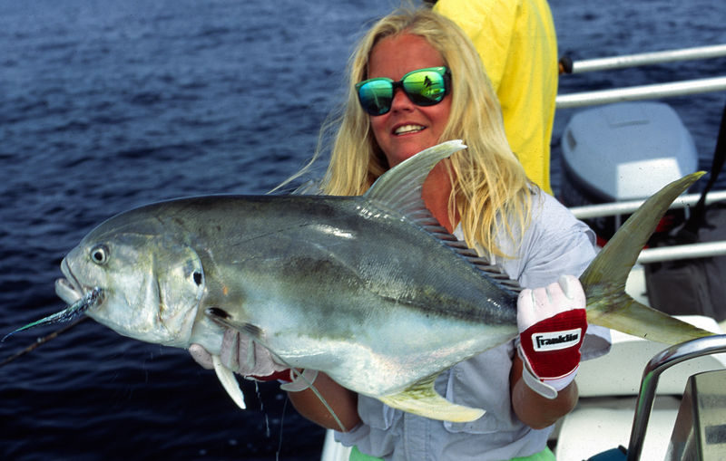 Jack Crevalle and Wendy Gunn, Mainland Mexico, Blue Water Fly Fishing