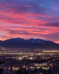 Pink Sky Over Salt Lake 2