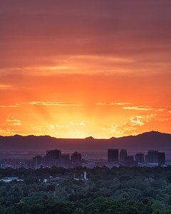 Salt Lake Sunset Rays