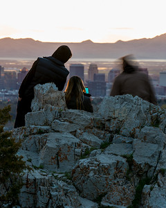 Sunset overlook of Salt Lake City, Utah.