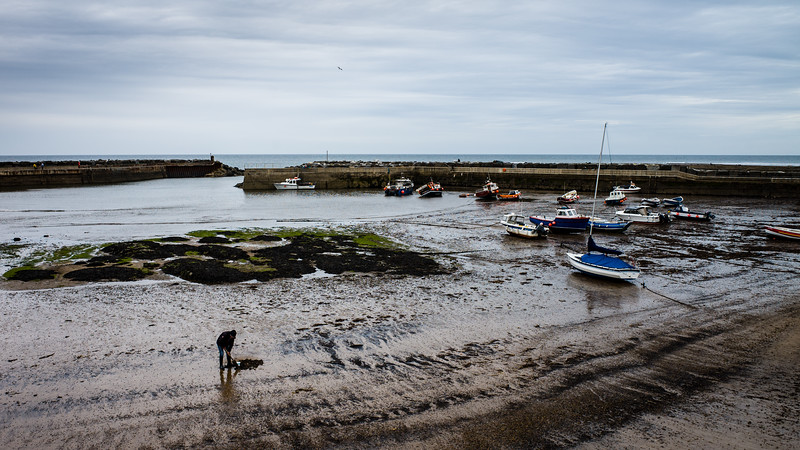 Saltburn harbour