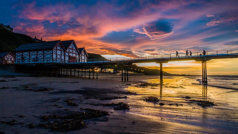 Sunset over Saltburn pier