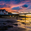 Sunset over Saltburn pier