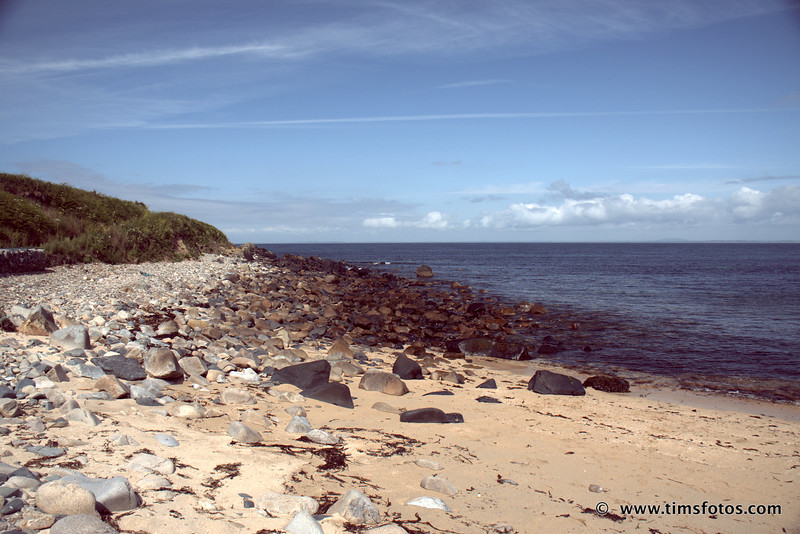 View from the beach, looking back 5 kms towards Kilmore Quay.