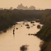 Salton Sea - dawn on one of the channels. I saw the egret only after looking at the photo at home.
