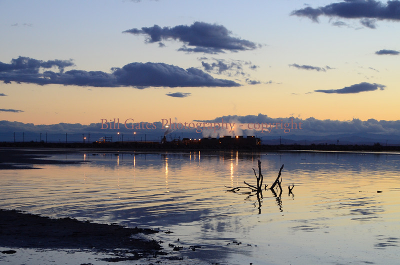 Sunset at Salton Sea