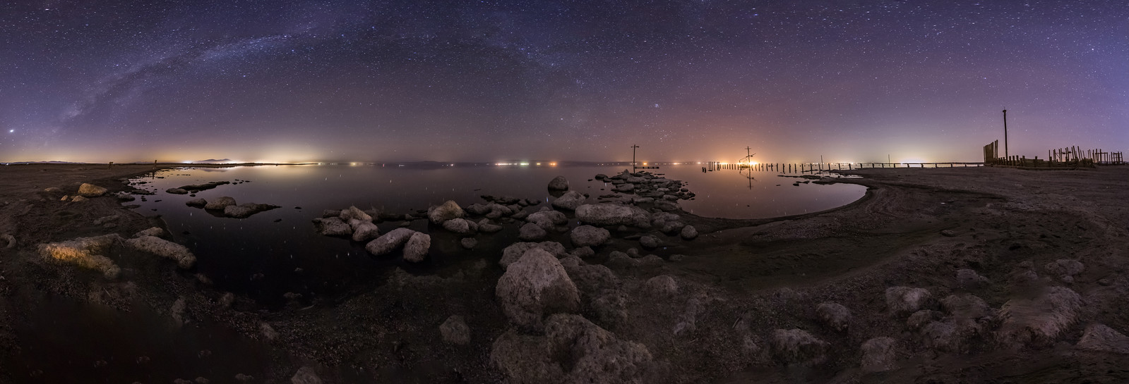 A Clear and Calm Night at the Salton Sea