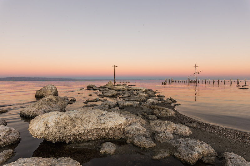 Remains of a Pier at the Salton Sea