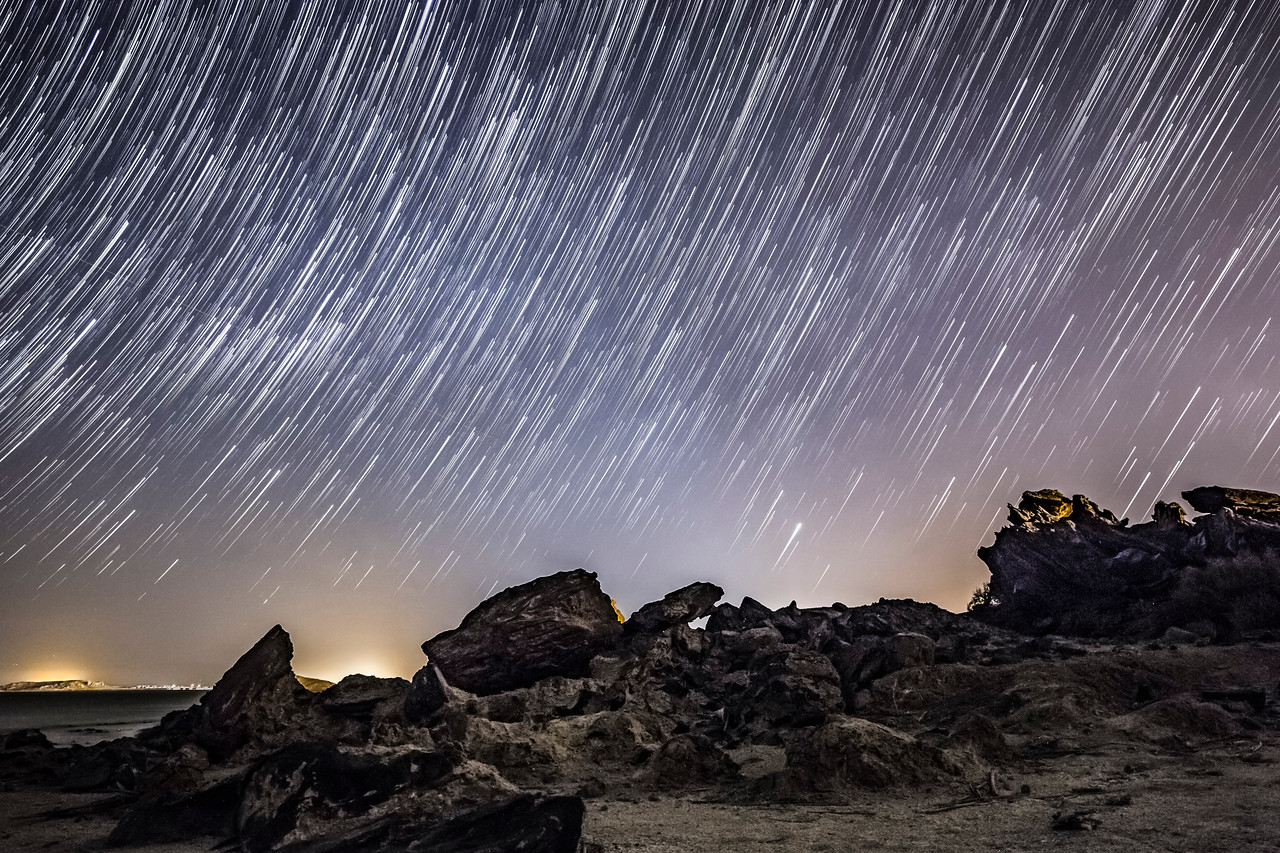 Star Trails Over Obsidian Butte
