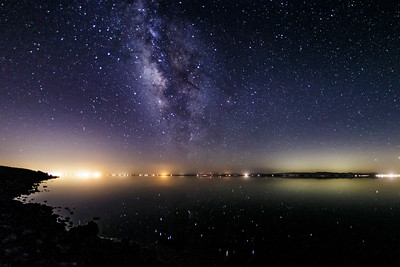 Milky Way and Sparkly Stars at the Salton Sea