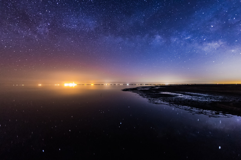 Vía Láctea over Lago Saltón