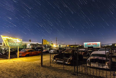Star Trails and a Drive-In Movie
