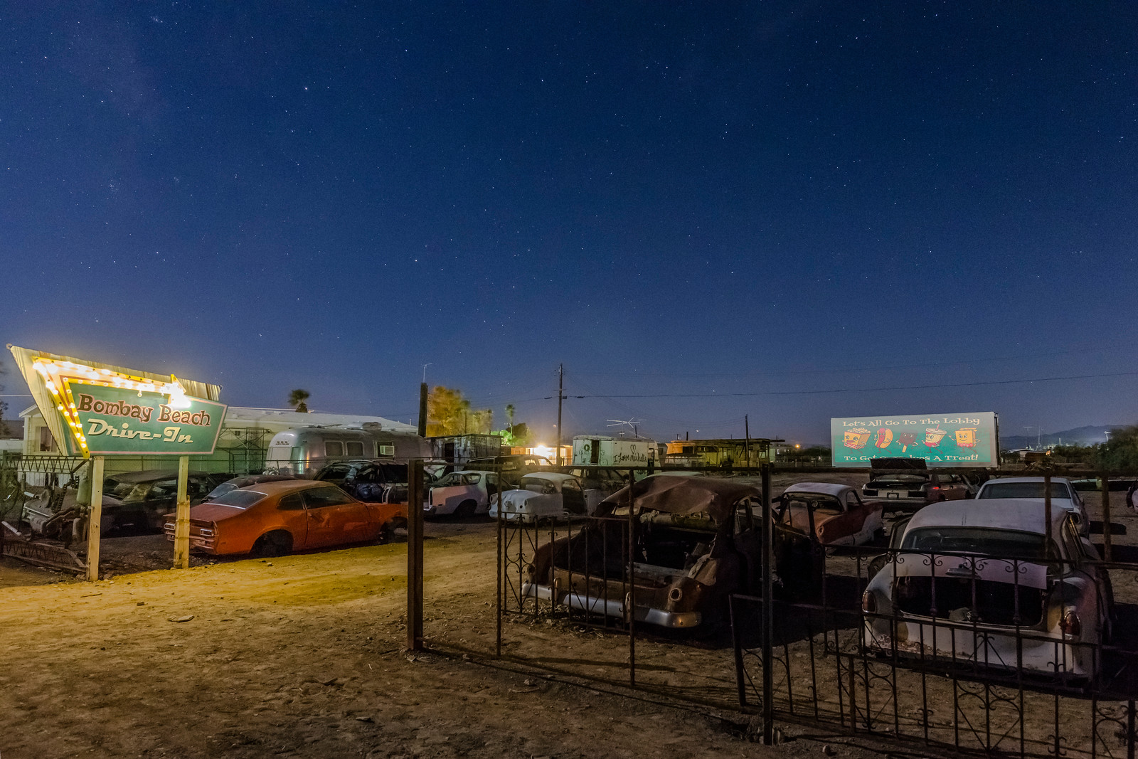 Movies Under the Stars at the Bombay Beach Drive-In Theatre