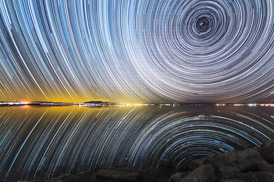 Salton Sea South Shore Saturday Night Star Trails