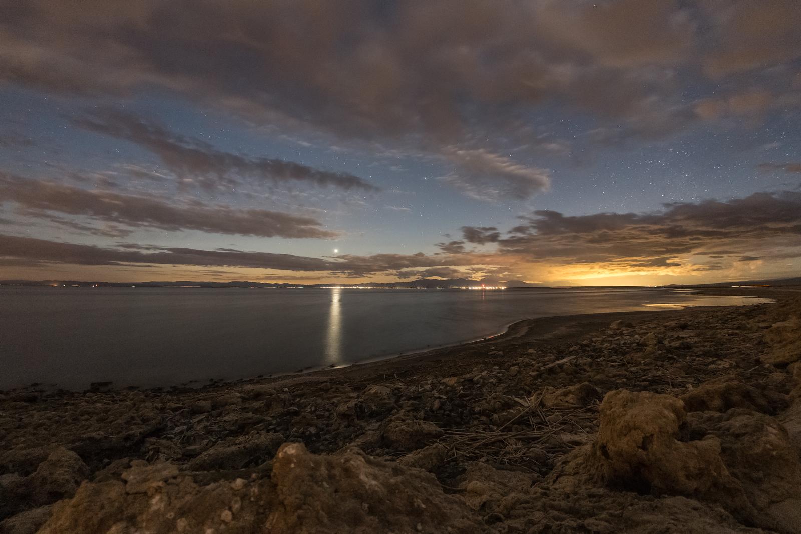 Saturday night at the Salton Sea.